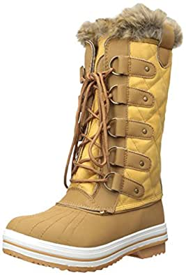 DailyShoes Women's Lace Up Knee High Artic Warm Fur Water Resistant Eskimo  Snow Boots, ...