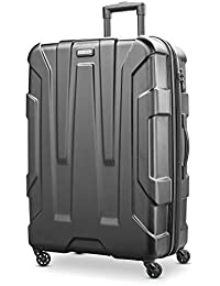 Centric Hardside Expandable Luggage with Spinner Wheels, Black, Checked-Large 28-Inch