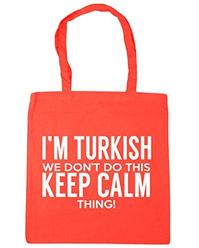 HippoWarehouse I 'm turco que no hacer esto lo Keep Calm bolsa de la compra bolsa de playa 42cm x38cm, 10litros Coral