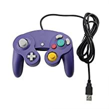 Purple Gamecube Style USB Wired Controller for PC and Mac-Classic Nintendo GC Gamecube PC Wired Gamepad by Mario Retro