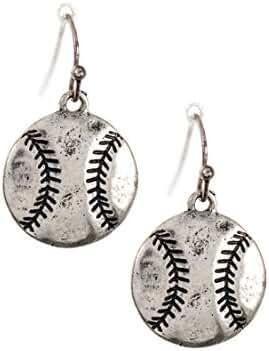 Trendy Fashion Jewelry Baseball Drop Dangle Earring By Fashion Destination
