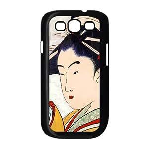 Samsung Galaxy S3 9300 Cell Phone Case Black Mixed Media Geisha Oqks