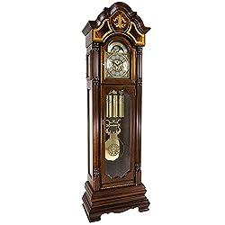 Hermle 010803031171T Taylor Tubular Grandfather Clock - Walnut