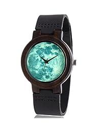 WASTIME Handmade Wooden Watches Super Luminous Natural Wood Wrist Watch for Women Men Boys Girls