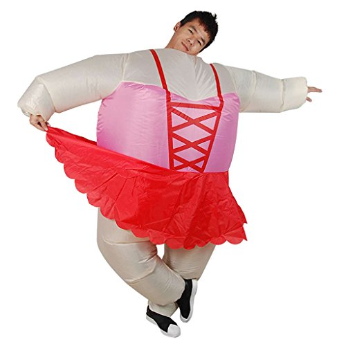 Prettyia Fun Ballerina Inflatable Costume Cosplay Fancy Dress Fat Clothes Air Suits