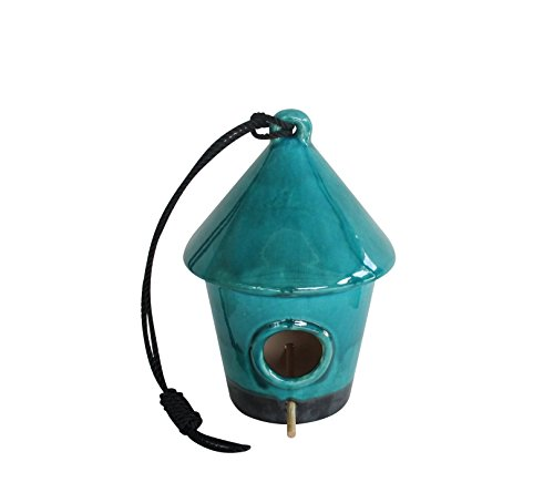 Alpine Hanging Birdhouse, Turquoise, 10