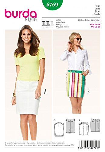 Burda Ladies Easy Sewing Pattern 6820 Stretch Knit Casual Tops Burda-6820