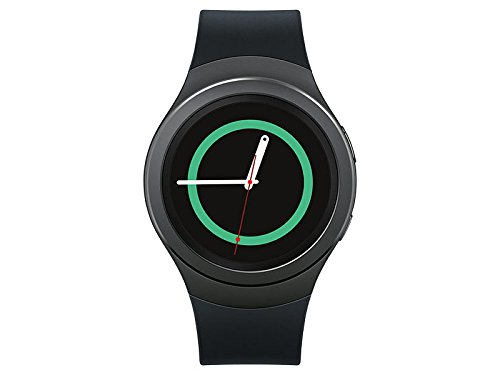 Samsung Galaxy Gear S2 Smartwatch SM-R730V 4G (Verizon) with Small Rubber Band - Certified Refurbished (Dark Gray) by Samsung
