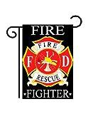 Cheap Fire Fighter Garden Flag