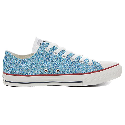 Converse All Star Slim personalisierte Schuhe (Custom Produkt) Happy Paisley