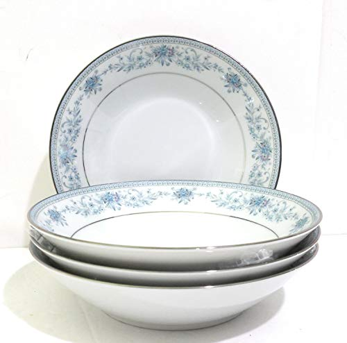 (Noritake China Blue Hill #2482 Coupe Soup Bowl - Set of 4)