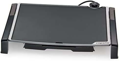 """Presto 07073 Electric Tilt-N-fold Griddle, 19"""", Black inch"""