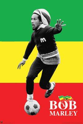 Bob Marley Soccer Rasta Poster 24X36 Poster Print, 24x36 College Poster Print, (Bob Marley Soccer Poster)
