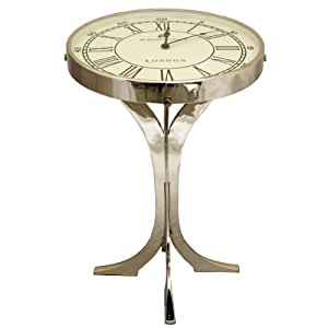 Urban designs 49 bond street london metal for Clock coffee table round