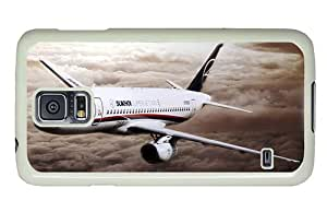 Diy Samsung case free shipping cover Sukhoi Superjet 100 aircraft PC White for Samsung S5,Samsung Galaxy S5,Samsung i9600