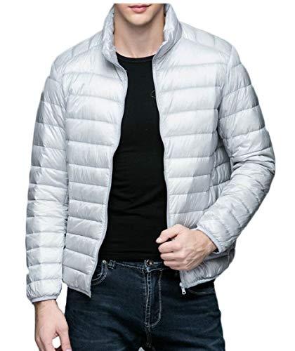 Men's Gery Puffer Down Packable Jacket Lightweight Warm TTYLLMAO Coat Ultra Winter gCqcvw