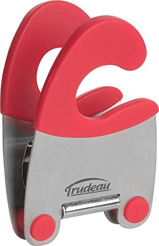 Trudeau Maison Stainless Steel Untensil Rest Pot Clip - Red