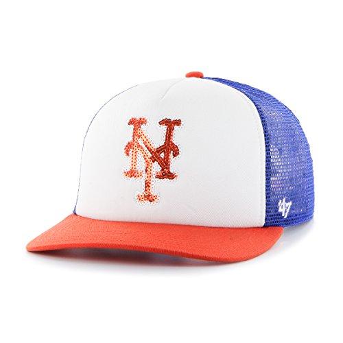 Mlb New York Mets Apparel - MLB New York Mets Women's Glimmer Captain Adjustable Snapback Hat, Royal