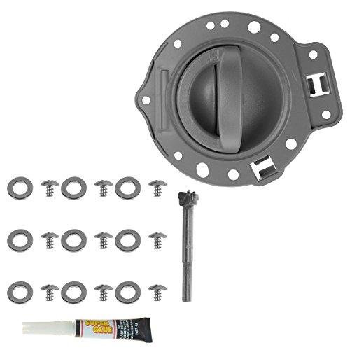 (Door Handle & Bezel Repair Kit Gray Front or Rear Driver LH for 06-10 Commander)