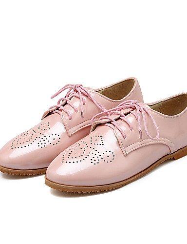 Confort us6 Richelieu Arrondi Bleu Njx Argent 2016 Beige Cn36 Bas Femme Décontracté Chaussures Uk4 Eu36 Talon Rose Bout Beige Similicuir nnaSCvqwO