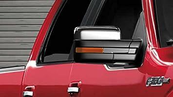 09-13 Ford F150 Truck Triple Chrome Plated Top Half Mirror Cover Caps Trim Pair