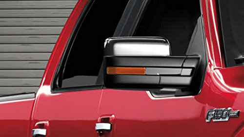 Razer Auto Triple Chrome Plated Top Half Mirror Cover Caps Trim Pair (Does not fit Towing Mirrors) for 2009-2014 Ford F150