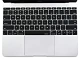 MOSISO Protective Keyboard Skin Compatible MacBook 12 Inch with Retina Display A1534 (Newest Version 2017/2016/2015), Black
