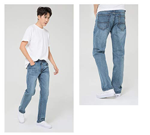 de de el Pantalones de WFL y Estiramiento tamaño el Ocasional Vaqueros Hombres los Hombres Recto los Delgada Grasa los más 1 Suelta La la sección 8xUwrUqt1
