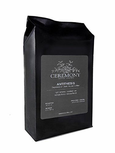 Cheap Ceremony Coffee Roasters – Antithesis Dark Roast Blend – Specialty Whole Bean or Ground Coffee – 2lb Bag (Espresso – Fine Grind)