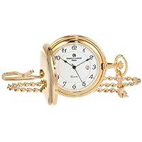 Charles-Hubert, reloj de bolsillo de cuarzo chapado en oro de París