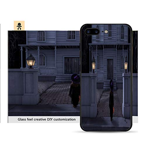 iPhone 7p / 8p Ultra-Thin Phone case Haunted House Mansion Trick or Treater Halloween Night Resistance to Falling, Non-Slip, Soft, Convenient Protective case -