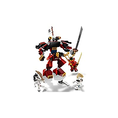 LEGO NINJAGO Legacy Samurai Mech 70665 Toy Mech Building Kit comes with NINJAGO Minifigures, Stud Shooters and a Toy Sword for Imaginative Play (154 Pieces): Toys & Games