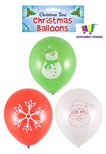 Henbrandt 45 Assorted Christmas Party Latex Balloons