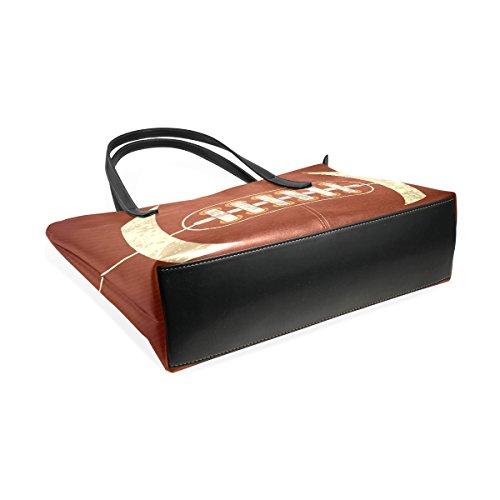 COOSUN American Football PU Leder Schultertasche Handtasche und Handtaschen Tasche für Frauen