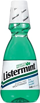 Listermint Mouthwash With Fresh Mint Flavor 32-Ounce