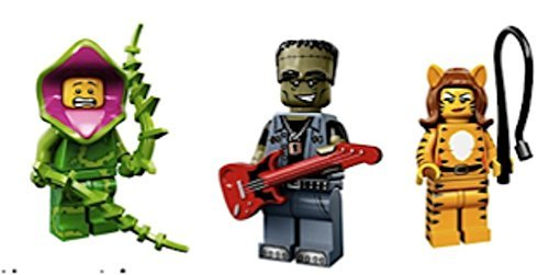 Plant Guy, Tiger Lady, Frankenstein Guitar Rocker : Lego Collectible Minifigures Series 14 Monsters, Zombies, Halloween Custom Bundle 71010 -