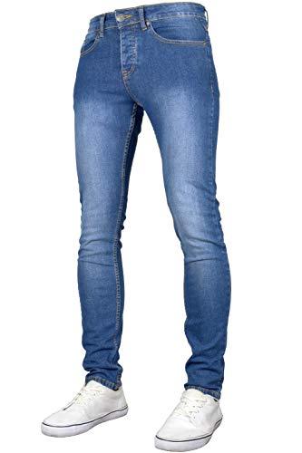 526Jeanswear Men's Raptor Stretch Super Skinny Fit Jeans (36W x 30L, Midwash) (Jeans Skinny Mens 36x30)