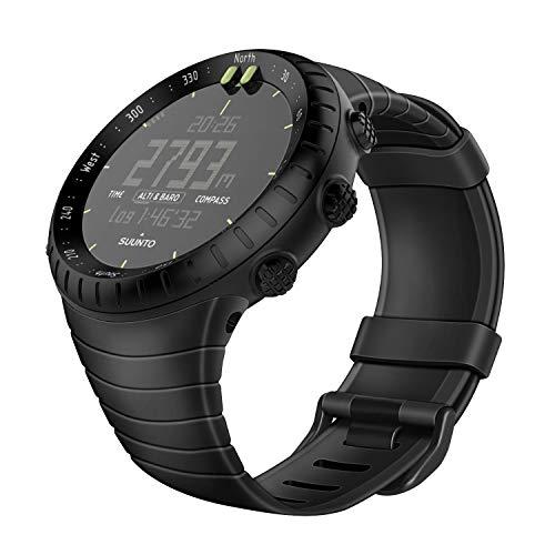 Suunto Strap (Fintie Suunto Core Replacement Watch Band, Rubber Accessory Strap Wrist Sport Bands w/Metal Clasp Compatible with Suunto Core Smartwatch, Black)