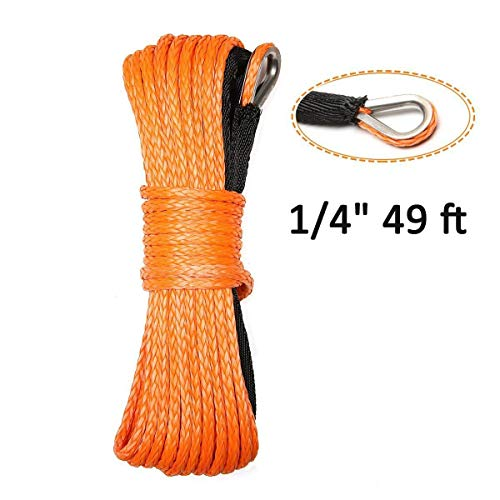 Synthetic Winch Rope ELUTO 49'x1/4