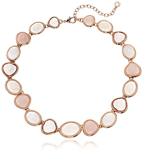 Blush Necklace - Anne Klein Women's Rose Gold/Blush Stone Collar Necklace, Pink, Size 0