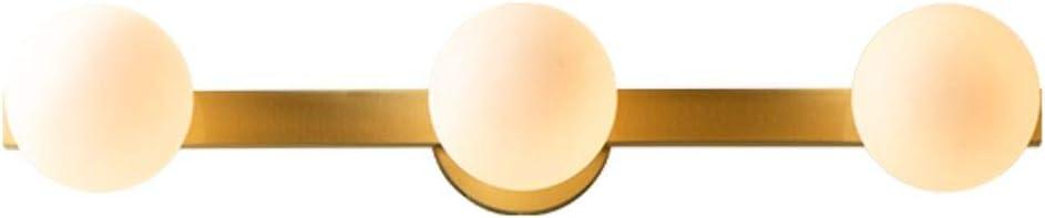 Modo Lighting Modern Glass White Ball Wall Sconce Magic Bean Molecular Wall Mounted Light Antique Brass Globe Wall Lamp Wall Washer for Bedside Bathroom Mirror Headlights