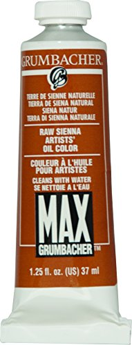 Grumbacher Max Water Miscible Oil Paint, 37ml/1.25 oz, Raw ()
