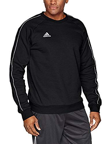 adidas Men's Core 18 Soccer Sweatshirt, Black/White