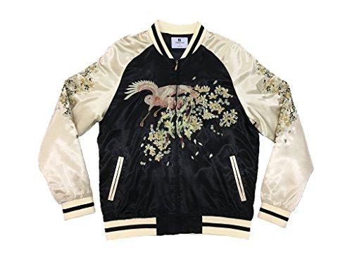 Best Unisex Black/Gold Phoenix Souvenir Bomber (Black Silk Jacket)