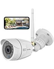 Outdoor Security Camera, Wansview 1080P Wireless WiFi Home Surveillance Waterproof Camera with Night Vision, Motion Detection, Remote Access, Works with Alexa-W4