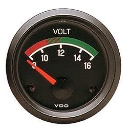 VDO 332041 Cockpit Series Voltmeter Gauge