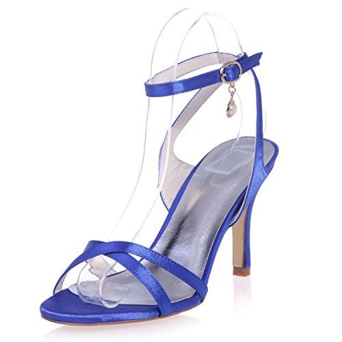 Autunno Tacco Matrimonio Tacco 8 Plateau Alto Blue con Estate Fibbia Elobaby e cm Donna 5 nAwRF8ffq
