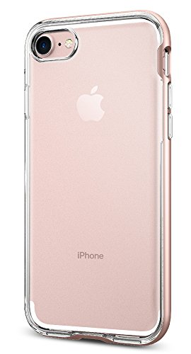 Spigen Neo Hybrid Crystal iPhone 7 Case with Flexible Inner Casing and Reinforced Hard Bumper Frame for iPhone 7 2016 - Rose Gold