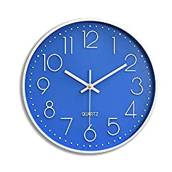 Large Digital Wall Clock Simple Round Quiet Clocks No Ticking Noise Cool Big Modern Wall Clocks for Bathroom,Living Room, Kitchen, Classroom,Lounge, Office Easy to Read