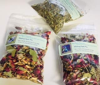 Spell Mix : 4 Spell Mixes ~ Healing ~ Purification ~ Wishes ~ Banishment ~ 14 Grams Each ~ Ravenz Roost Herbs (Spell Supplies)
